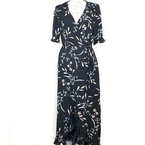 NWT Lulus Wild Winds Hi-Low Floral Wrap Dress